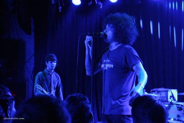 Omar Rodriguez-Lopez and Cedric Bixler-Zavala performing with Antemasque